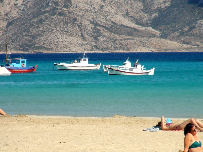 Relax on a Greek beach in the sun