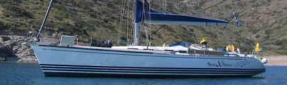 Hocux Pocux at Anchor on Mykonos